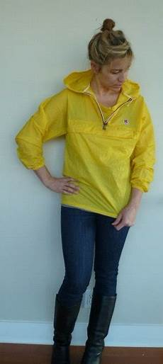 k way pluie vintage yellow k way pull jacket s small