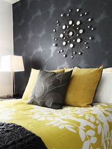 Yellow And Grey Wallpaper Bedroom Ideas by Get Premium Style With Playful Yellow Mustard Bedroom