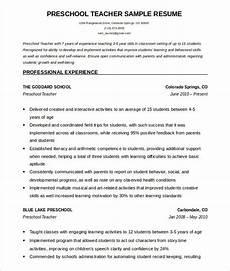 preschool teacher resume template free word download how to make a good teacher teacher