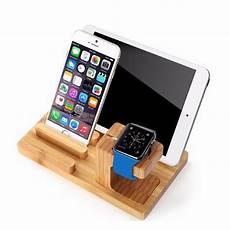 Bracket Stand Holder Mount Display Dock by Real Bamboo Wood Desktop Stand For Tablet Bracket