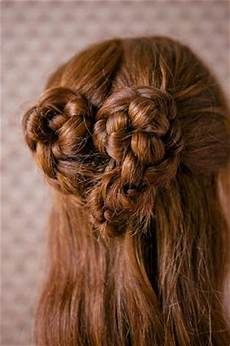 romantic twisted hairstyles heart braid tutorial