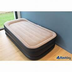 matelas gonflable intex rest bed deluxe fiber tech 1 place
