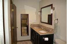 backsplash bathroom ideas 23 ideas of glass tile trim bathroom