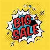 Vector Colorful Pop Art Illustration With Big Sale