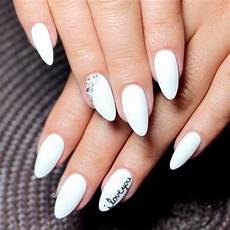 top 65 pretty white nails with glitter shapes trendy