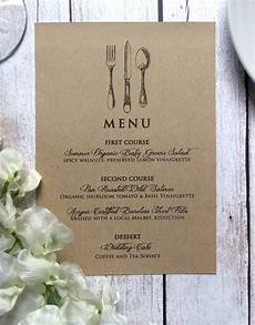 Wedding Menu Vintage Inspired