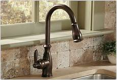moen kitchen sinks and faucets moen 7185orb brantford one handle high arc pull kitchen faucet rubbed bronze touch