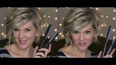 curly hair tutorial for inverted or stacked bob using a