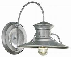 budapest 12 quot wide galvanized outdoor wall light industrial outdoor lighting by ls plus