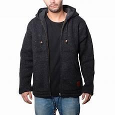 herren strickjacke wolle jacke mit warmen fleecefutter und