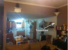 how do i make a quot smooth quot transition with two paint colors a wall in open floor plan