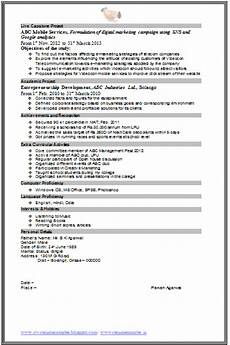 over 10000 cv and resume sles with free download mba marketing resume format