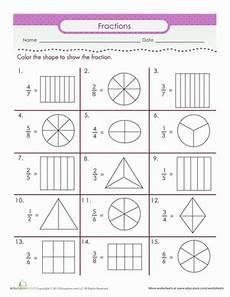 color the fraction second grade math math worksheets fractions worksheets