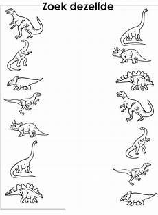 dinosaurs preschool worksheets 15333 werkblad visueel dino s werkbladen dinosaurussen thema