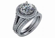 two piece 3 74ct diamond engagement wedding ring