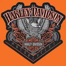 harley davidson patches harley davidson eagle pinstripes with flames 8 0 inch