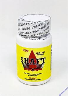 shaft dietary supplement male enhancement 6ct bottle