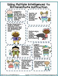 differentiated instruction worksheets creativedictionary multiple intelligence