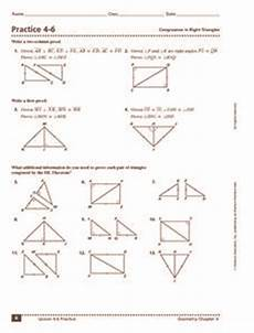 practice 4 6 congruence in right triangles 10th 12th