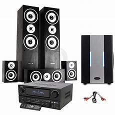 5 1 soundsystem weiß 5 1 hifi surround sound system tower speakers subwoofer
