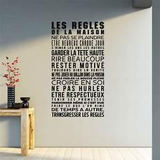 Sticker Les R 232 Gles De La Maison Pas Cher Stickers