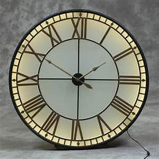 single dial large back lit westminster wall clock avenue interiors