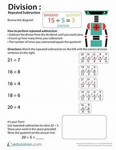 division as repeated subtraction worksheets 4th grade 6694 how to calculate slugging percentage worksheet education