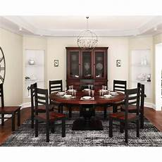 illinois modern two tone solid 10 piece dining room