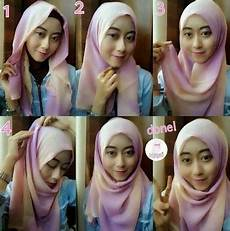 Cara Memakai Jilbab Pashmina Wajah Bulat
