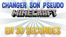changer pseudo changer pseudo minecraft en 30 secondes