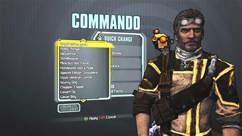 Borderlands 2 Commando Heads