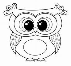 easy owl coloring pages printable colouring owl