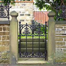 terrace garden gate traditional solid cast iron