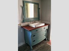 Turn Your Old Dresser Into An Outstanding DIY Bathroom Vanity