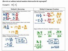 subtraction of mixed numbers with regrouping worksheets 10695 showme subtracting mixed numbers with borrowing