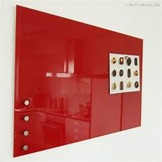 glas magnetwand raum blick glas magnettafel max 80x50 cm rot magnetwand