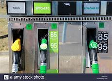 Petrol Pumps In Europe Stock Photo Royalty Free