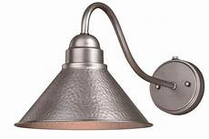 outland 10 in arm outdoor wall light brushed pewter vaxcel