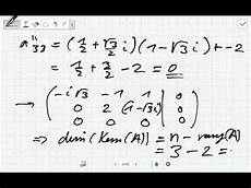 kern einer matrix mit komplexen eintr 228 komplexe