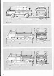 Vw T3 Dimensions Vw Syncro Vw Transporter Dimensions