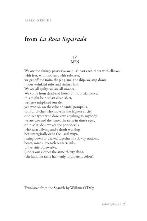 Pablo Neruda Poems