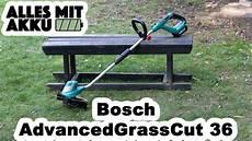 Bosch Advancedgrasscut 36 Rasentrimmer Test Alles Mit