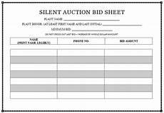 silent auction template doliquid