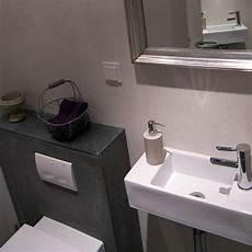 mini gäste wc ideen g 228 ste wc mit schiefer fliesen bad 017 b 228 der dunkelmann