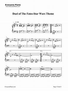 duel of the fates star wars theme stave preview