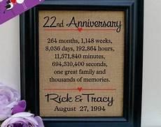 22nd Wedding Anniversary Gifts