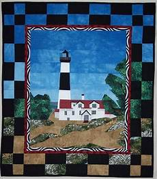pattern big sable point lighthouse quilted wall by