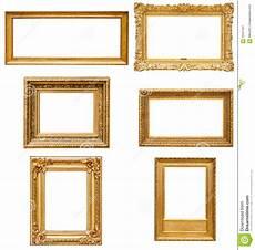 goldene bilderrahmen satz goldene bilderrahmen des rechtecks stockbild bild