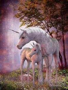 any color large unicorn wall unicorn mare and foal painting by corey ford