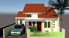 Desain Rumah Sederhana Tipe 40 Dengan 2 Kamar Tamapak